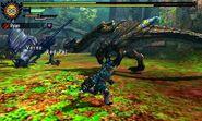 MH4U-Tigrex and Yian Garuga Screenshot 001