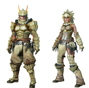 MHO-Barioth Armor (Blademaster) Render 001