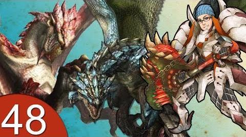 Monster Hunter 4 Nubcakes 48 - Pink Rathian & Azure Rathalos English commentary online gameplay