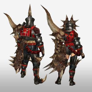 FrontierGen-Diaburo G Armor (Gunner) (Back) Render