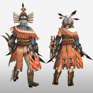 FrontierGen-Kukubo Armor (Gunner) (Back) Render