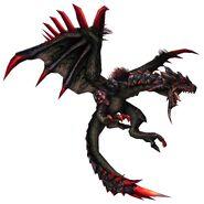 FrontierGen-Unknown (Black Flying Wyvern) Render 001