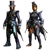 MHGU-Bnahabra Armor (Blademaster) Render