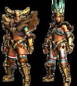 MHGU-Bone Armor (Blademaster) Render