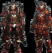 MH4U-Rathalos Rare Relic Armor (Blademaster) Render 001