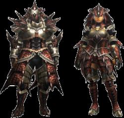 MH4U-EX Rathalos Armor (Blademaster) Render 001
