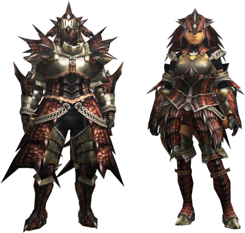 File:MH4U-EX Rathalos Armor (Blademaster) Render 001.png