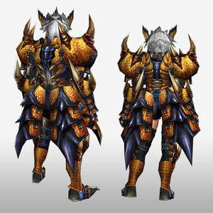 FrontierGen-Tigrex G Armor (Blademaster) (Back) Render