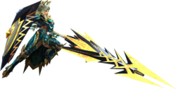 MH3G-Gunlance Equipment Render 001