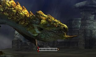 MH4U-Gold Rathian Head Break 002