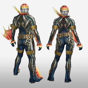 FrontierGen-Ganosu G Armor (Gunner) (Back) Render