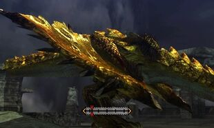 MH4U-Gold Rathian Right Wing Break 002