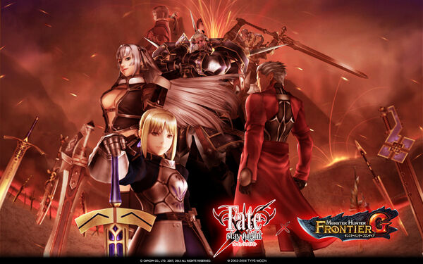 FrontierGen-Fate stay night x MHF-G Wallpaper 001