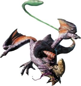 Purple Gypceros MH4 Render