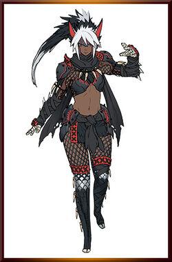 MHGen-Silverwind Nargacuga Armor (Female) Concept Art 001