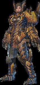 MHO-Tigrex Armor (Gunner) (Female) Render 001
