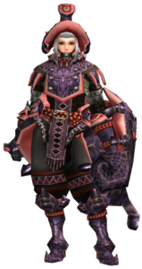 FrontierGen-Cham G Armor (Gunner) (Female) Render 001