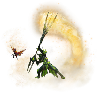 MHXX-Insect Glaive Equipment Render 001