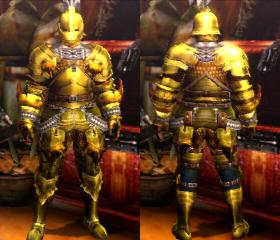MH4U Male Golden Lune (Blademaster)