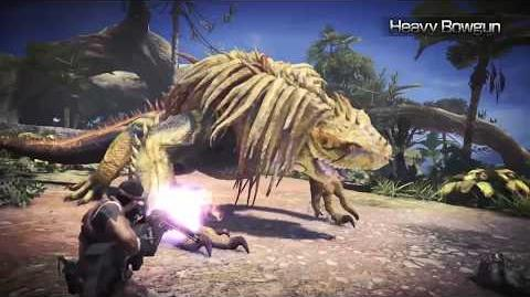 Monster Hunter World - Tráiler armas pesadas.