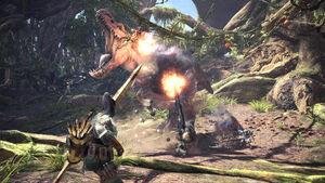 Monster Hunter World Cooperativo Anjanath