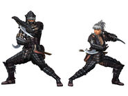 MHFG-Black Shadow G Armor (Blademaster) Render 2
