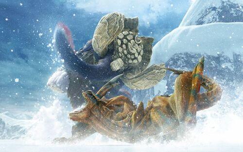 MHX-Artwork Gammoth vs Tigrex
