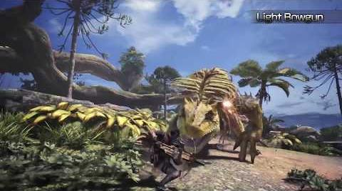 Monster Hunter World - Tráiler armas ligeras.