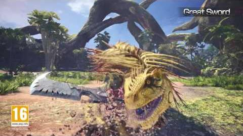 Monster Hunter World Waffenvideo 03 Großschwert PS4, Xbox One, PC