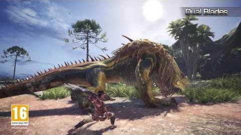 Monster Hunter World Waffenvideo 02 Doppelklingen PS4, Xbox One, PC