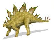 Stegosaurus BW