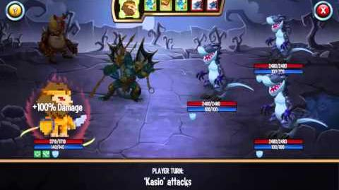 Pixelion + LOTA vs 3 Tyrannoking Probando Fuego 2 a nivel 35