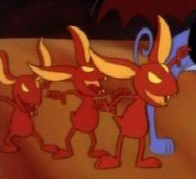 fire imps the fire imps are the minions of belladonna from an all dogs christmas carol - All Dogs Christmas Carol