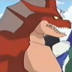 Drachus fordet Genki und seine Freunde zum Kampf heraus