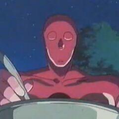 Pink Jam isst die Suppe