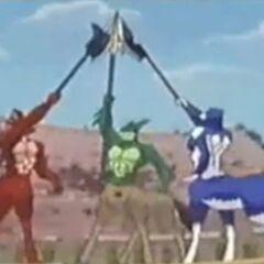 Drachus, Zentaur und Zelius sind ein gutes Team