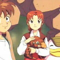 Genki und seine Freunde schenken Allan Baby-Wurm