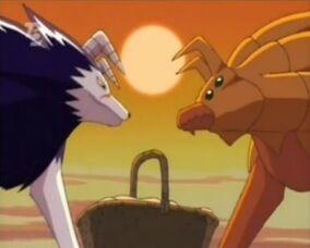 Tiger und Zackenhund