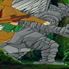 Felsen-Drache hat Haki und Baby-Farb-Pandora entdeckt.