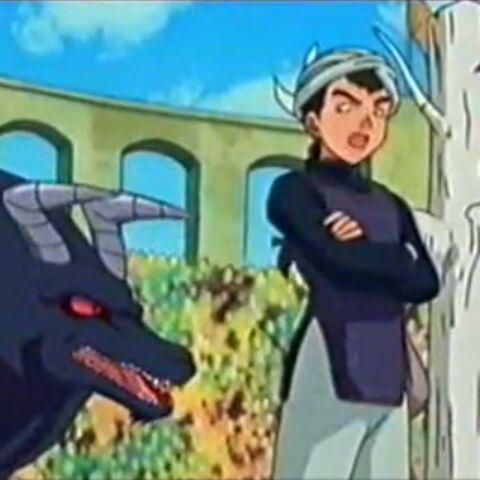 Terror Dog und Weißbirke mit ihrem Trainer