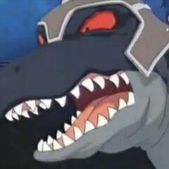 Captain Raub-Dino will Mocchi zu seinem Haustier machen