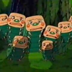 Die Farb-Pandoras haben Angst vor den bösen Truppen.