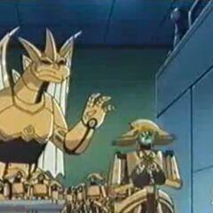 Robo stiehlt die Sachen von Genki und seinen Freunden.