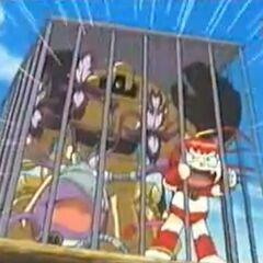 Flora, Gobi und Mew wurden gefangen genommen