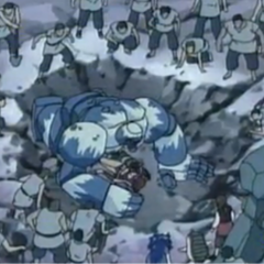 Kampfkoloss beschützt Genki und Pixie