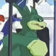 Zentaur fordert Genki und seine Freunde zum Kampf heraus