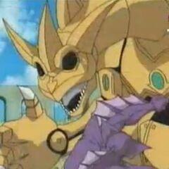 Naga greift Robo-Drache an.