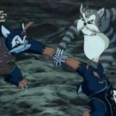 Kato stoppt die miesen Katzen-Brüder.