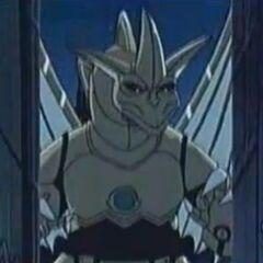 Robo-Drache erscheint als die Robos den Schaden an einer Straße entdecken.