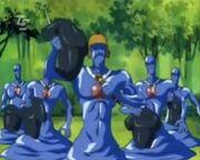 Blaue Wandler 3